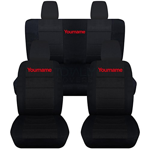 This Is The Most Advanced Soft Cotton Jeep Wrangler Seat Cover Designed To  Imitate Your Original JK Seats But Customized To Include Your Name.